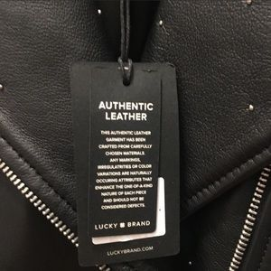 Lucky Brand Jackets & Coats - Lucky Brand Black Moto Leather Jacket